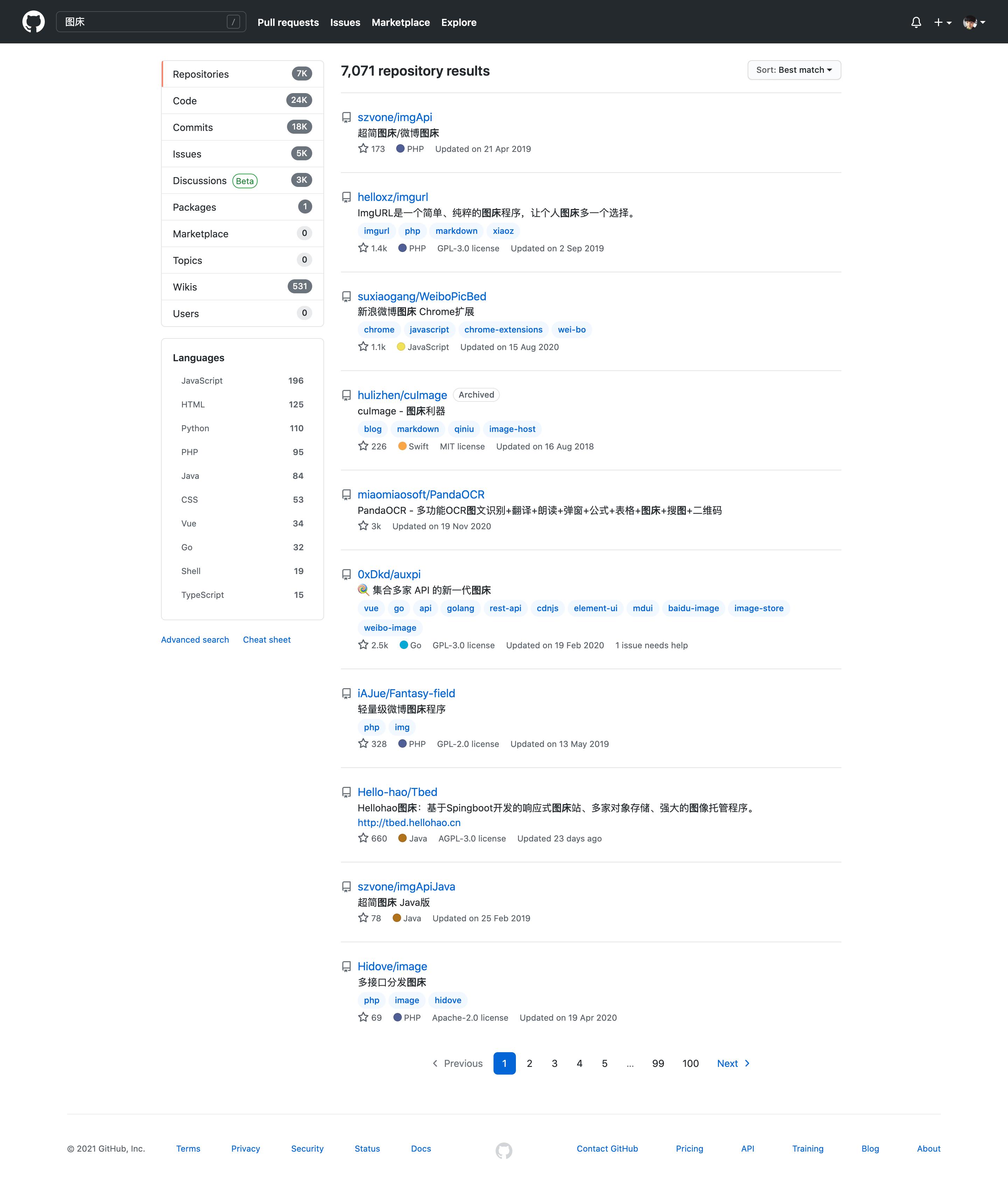 Github上琳琅满目的开源图床